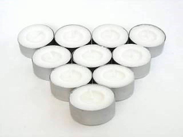 (2961) Hergt Duftteelichter Vanille weiß 50er Pack