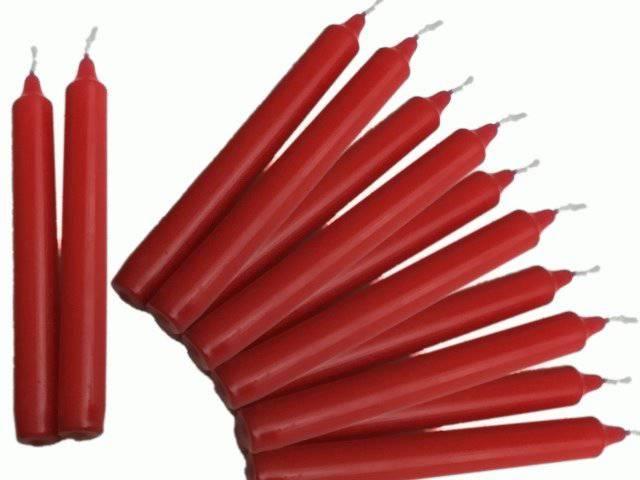 Gies Tafelkerze rot 20 cm 12er Pack