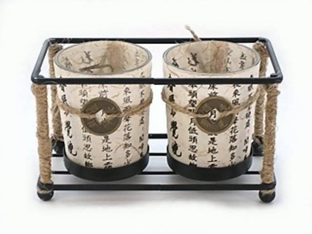 Pajoma Doppel-Kerzenhalter ChinaDuo