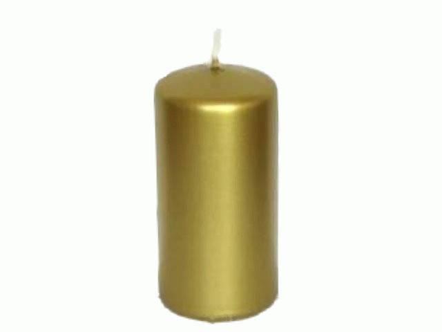 Bolsius Stumpenkerze 110/60 gold