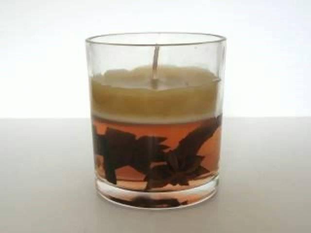 Gelkerze im Glas 8 cm Zimt